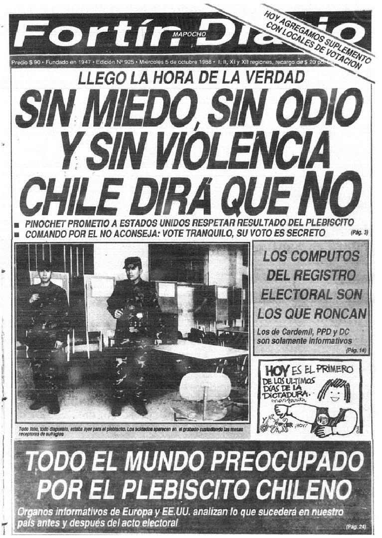 Fortín Mapocho - 5 de octubre de 1988