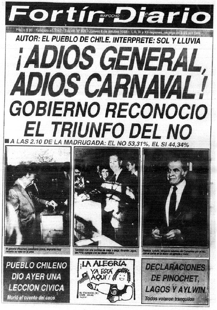 Fortín Mapocho - 6 de octubre de 1988