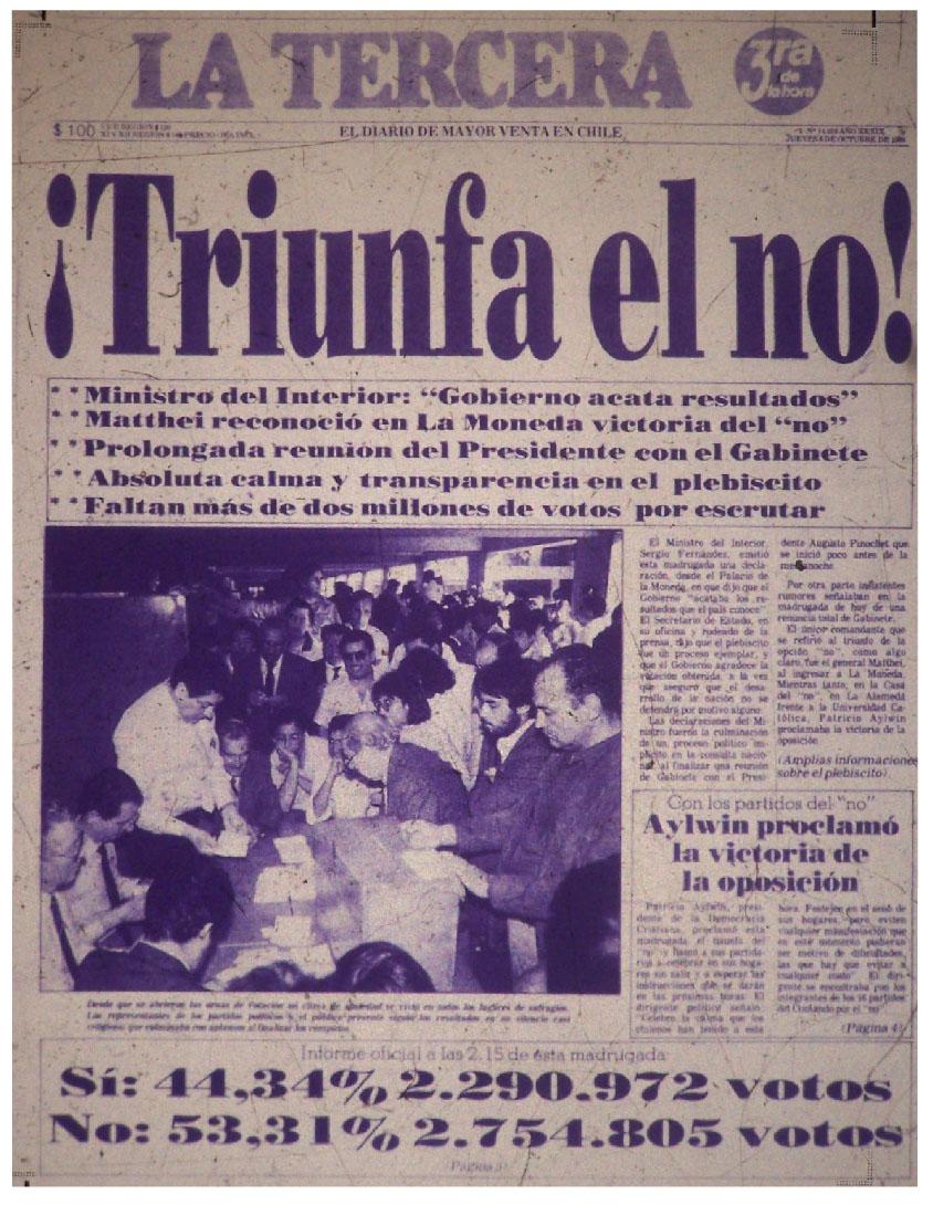 La Tercera - 6 de octubre de 1988