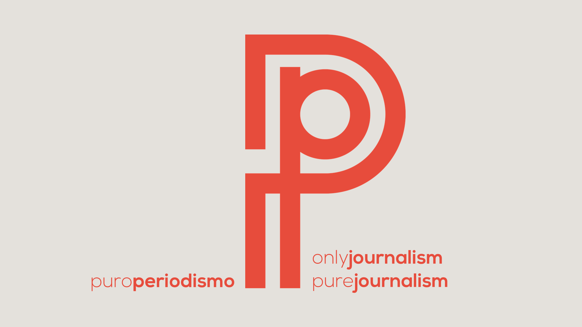 "Puroperiodismo is a word game with two meanings: ""only journalism"" and ""pure journalism""."