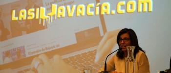 Juanita León durante su participación