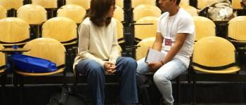 Eduardo Andrade durante su entrevista con Juanita León, en noviembre de 2016. Foto: Patricio Contreras.
