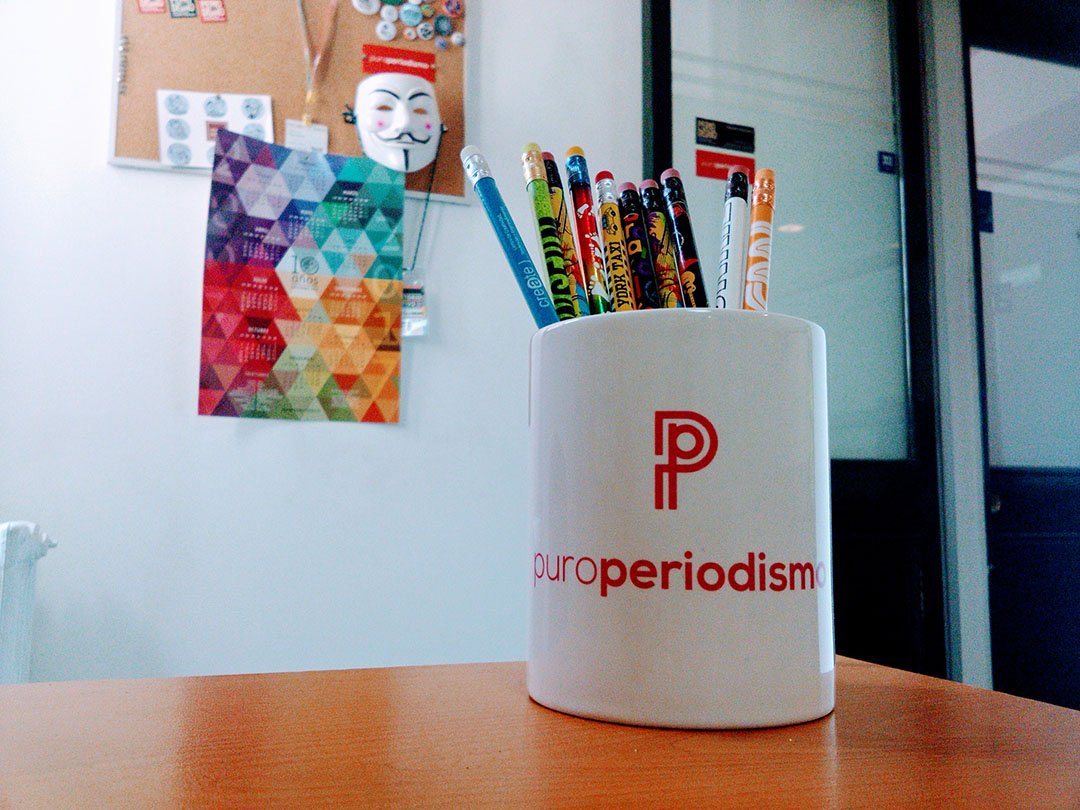 Nuestra querida oficina en Periodismo UAH.