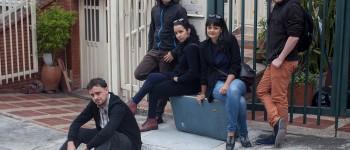 """El consejo editorial de """"Late"""". De izquierda a derecha: Daniel Wizenberg, Giovanny Jaramillo, Mónica Rivero, Yasna Mussa y Diego Cazar. Foto: Alejandro Saldívar."""