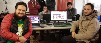 De izquierda a derecha: Nicolás Olea, (atrás) Luis marambio, Patricio Vásquez, Daniel Beovic, Pablo Besoain, Miguel Gutiérrez, Francisco Arellano (adelante).