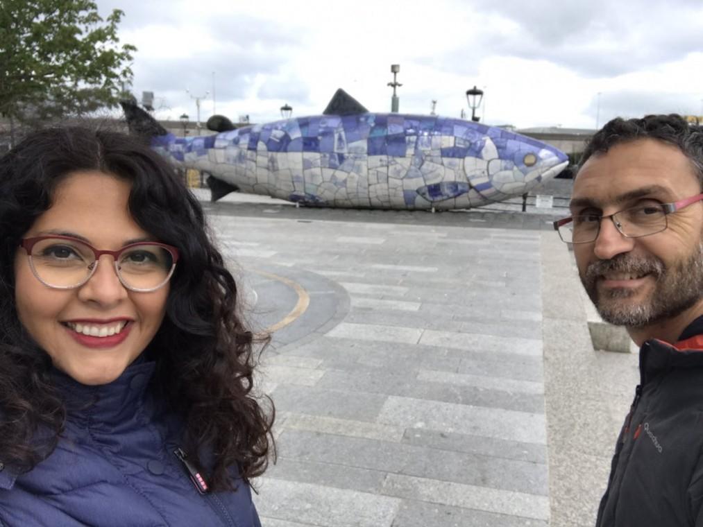 Erica Sánchez y Enzo XXXX en Belfast, Irlanda del Norte.