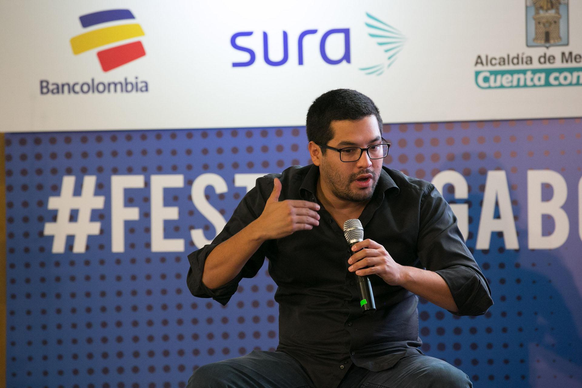 Óscar Martínez durante el Festival Gabo el 2015. Foto David Estrada/FNPI.