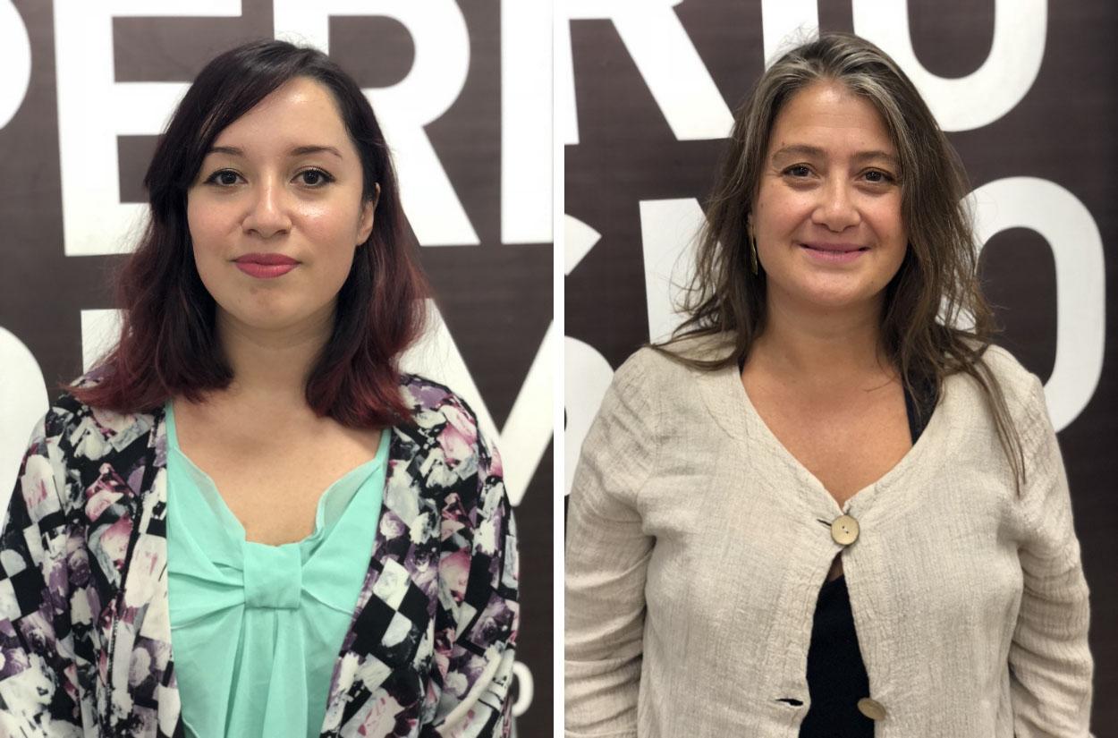 Karen vergara y Mónica Maureira. Fotos: Gustavo Donat.