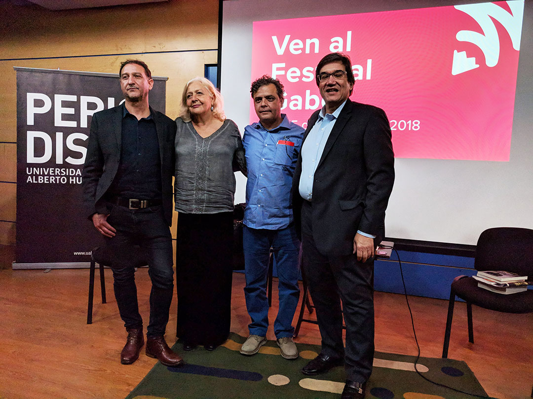 Juan Cristóbal Peña, Mónica González, Carlos Dada y Jaime Abello. Foto: Patricio Contreras