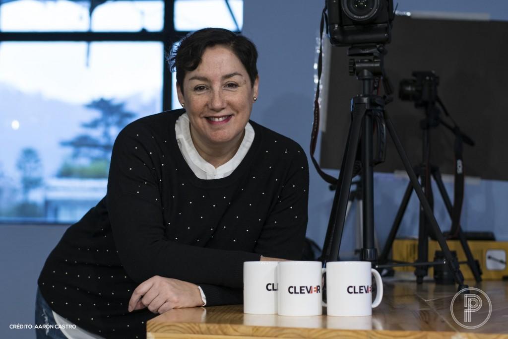 Beatriz Sánchez en las oficinas de Clever. Foto: Aarón Castro