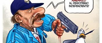 "Caricatura de ""La Prensa"" de Nicaragua."