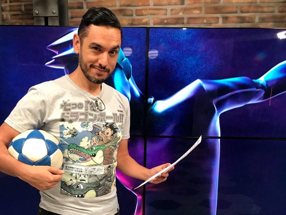 Fotografía personal de Juan Claudio Castro. Realizando el programa 'Sin Nombre' en los estudios de TyC Sports.