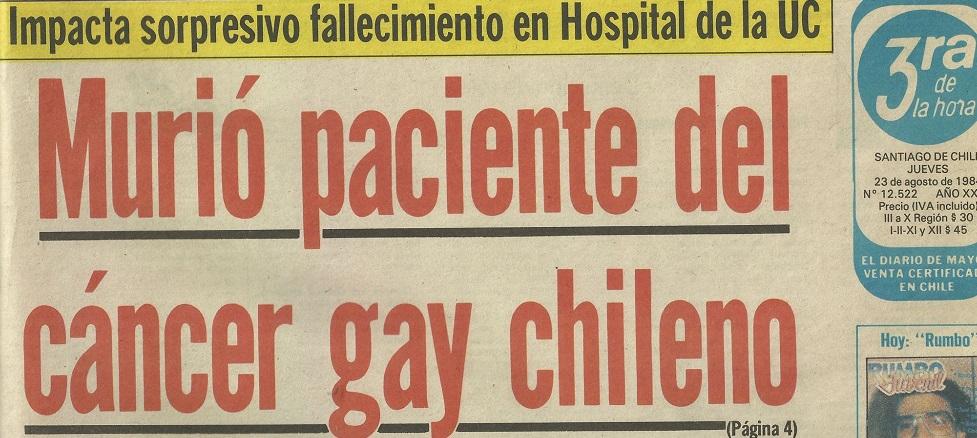 Así se hablada del VIH en agosto de 1984 en Chile.