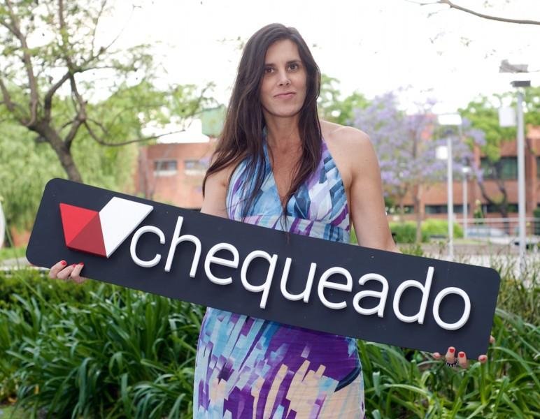 Laura Zommer, directora ejecutiva de Chequeado.com (fuente de la imagen: Chequeado.com)
