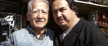 Jorge Jorquera junto a su padre