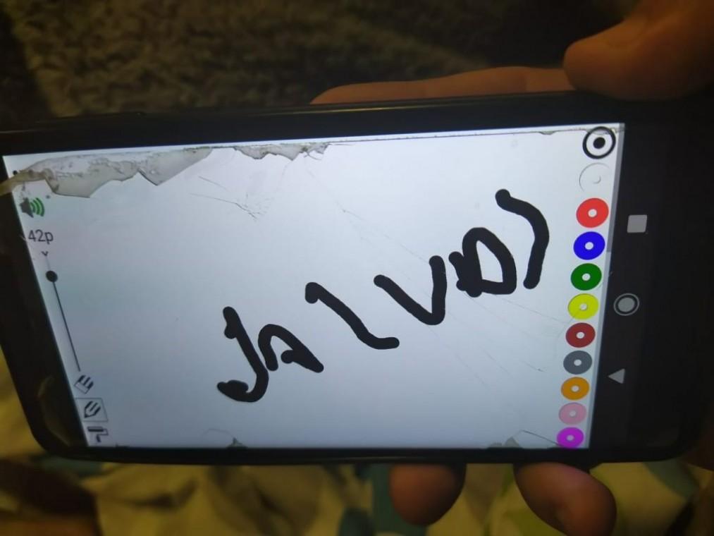 Palabra escrita por Mario tras ver el video de su campaña.