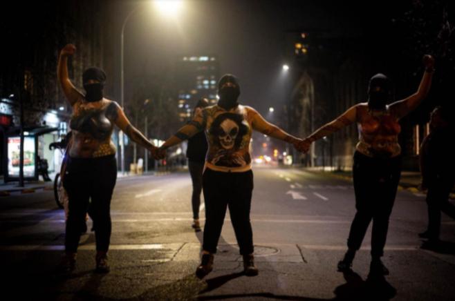 Marcha por el aborto, 25 de julio de 2018, Santiago de Chile. Por Luciano Candia.